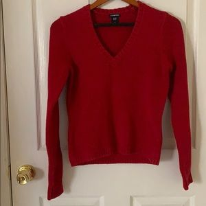 Women's Gap V-Neck Red Sweater Size S